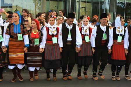 folklore: Novi Sad, Serbia: folklore dance for Guinness World Records Editorial
