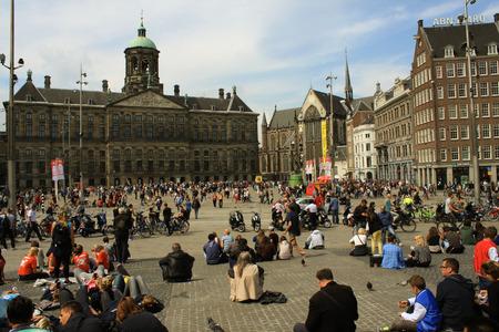 editorial: 18.08.2015 - Netherlands - Amsterdam - editorial - Amsterdam turists