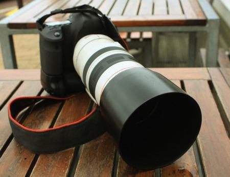 tele: Professional digital photo camera with tele lenses