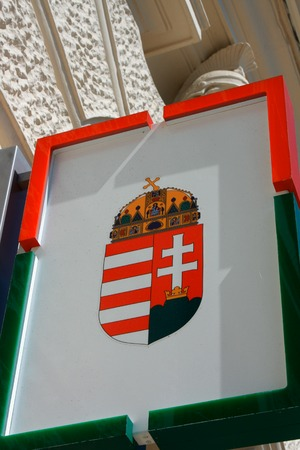 pecs: Coat of arms of Hungary emblem in Pecs