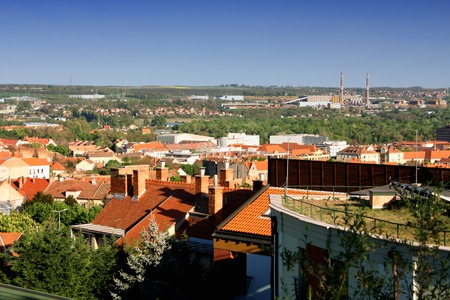 pecs: Industrial side of Pecs, Hungary Stock Photo