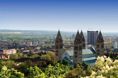 pecs: cityscape of Pecs, Hungary