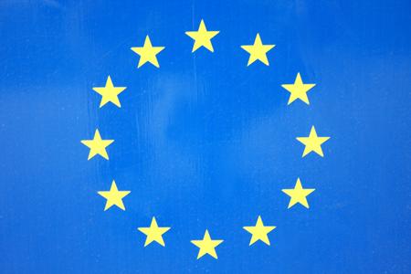 european integration: EU Flag with stars Stock Photo