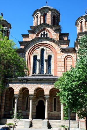 serbia xmas: Entrance on Church of St. Mark in Belgrade - Serbia