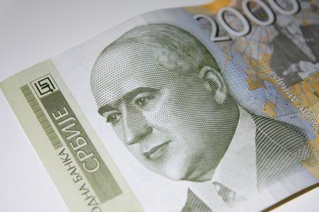 serbian: Serbian dinar.Bill of a 2000 dinars. Stock Photo