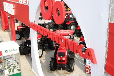 harrowing: Novi Sad, Serbia: May 11, 2016 - tractorsn on Agricultural Fair in Novi Sad
