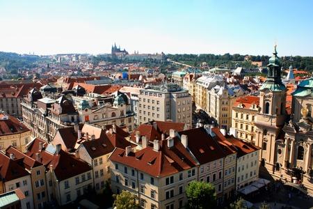 Cityscape of Prague, Czech Stock Photo