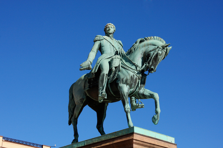 karl: Statue of Norwegian King Karl Johan XIV in front the Royal Palace, Oslo, Norway