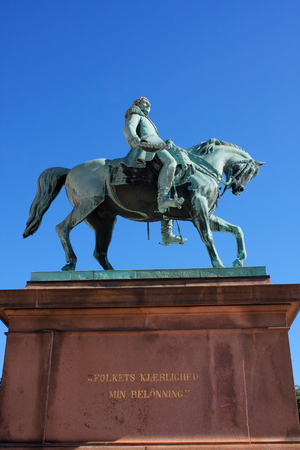 karl: Statue of Norwegian King Karl Johan XIV in front the Royal Palace, Oslo,