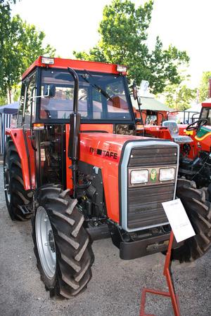 Novi Sad, Serbia: May 11, 2015 - tractor on Agricultural Fair in Novi Sad. Editorial