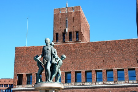 gildhall: Red City Hall and Monuments, Oslo, Norway