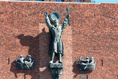 gildhall: nice detail on City Hall (Radhuset), Oslo, Norway