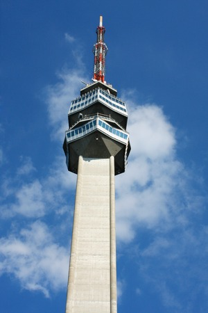 Access to the television tower on the Avala, Belgrade, Serbia Editorial