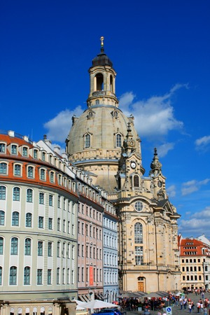 frauenkirche: Dresden, Germany. Frauenkirche in the ancient city of Dresd - Germany