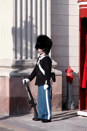 royal guard: The Royal Guard in Copenhagen, Denmark Editorial