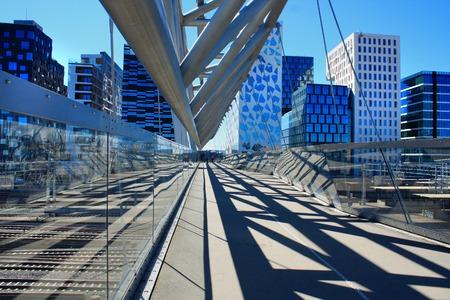 pedestrian bridge: Akrobaten pedestrian bridge in Oslo, Norway