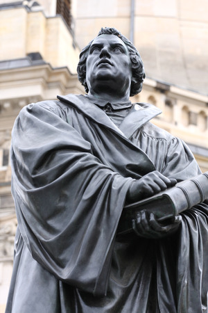 martin: the Martin Luther monument in Dresden (Germany) Stock Photo