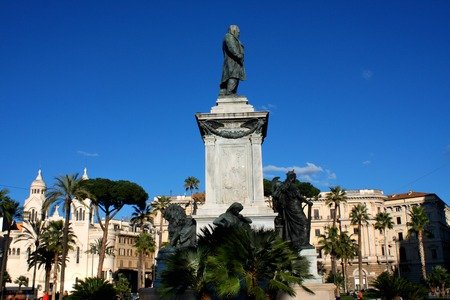 camillo: Monument to Cavour on the square of its name in Rome, Italy