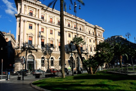 Cavour on the square of its name with court in Rome, Italy