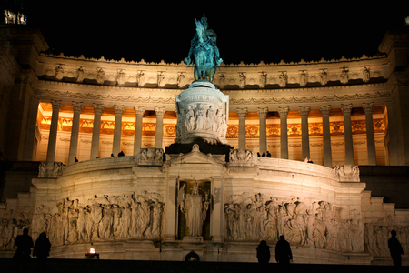 The Monument of Victor Emmanuel II, Venezia Square, in Rome, Italy