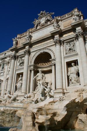 famous Trevi Fountain in Rome, Italy. Standard-Bild