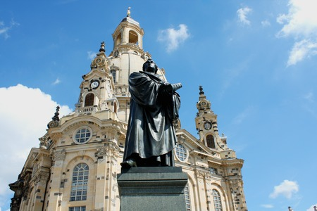 the Martin Luther monument in Dresden (Germany) Editorial