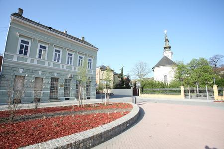 Square of the Republic in Old town in Novi Sad - Serbia