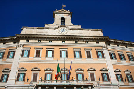 derecho romano: Palazzo Montecitorio is a palace in Rome and the seat of the Italian Chamber of Deputies.