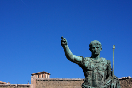 Statue of Julius Caesar Augustus in Rome, Italy Editorial