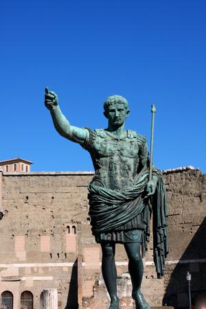 Statue of Julius Caesar Augustus in Rome, Italy Stock Photo - 74667121