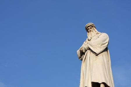 architect: Statue of Leonardo Da Vinci in Piazza della Scala, Milan, Italy