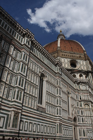 The Basilica di Santa Maria del Fiore (Basilica of Saint Mary of the Flower) in Florence, Italy Editorial