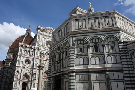 The Basilica di Santa Maria del Fiore (Basilica of Saint Mary of the Flower) in Florence, Italy Stock Photo