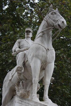King Constantine I on horseback, statue, Thessaloniki, Greece