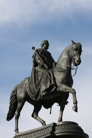 Statue of King John of Saxony (Konig Johann I. von Sachsen) at Theaterplatz in Dresden,