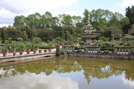 Details of Boboli Gardens, Florence, Italy Stock Photo