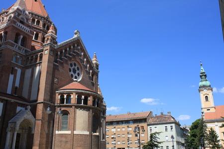 Dom Square and Holy Trinity Column Szeged - Hungary.