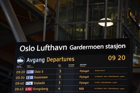 Oslo Lufthavn Station Gardermoen - Oslo airport. Redakční