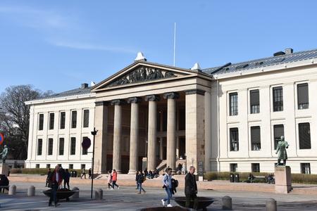 University of Oslo. Front view Redakční