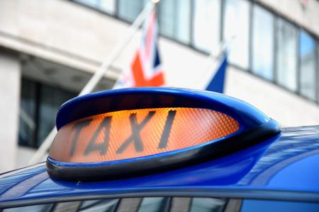 Taxi car in London - selective focus Reklamní fotografie