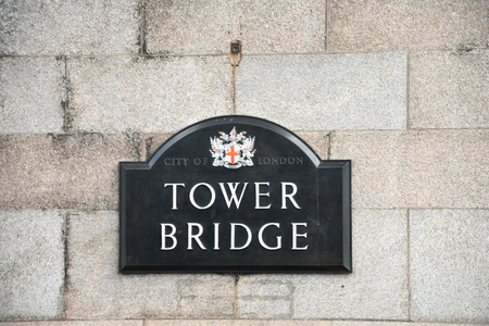 Tower bridge in London, Great Britain Redakční