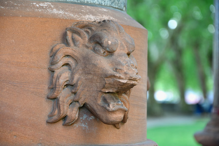 Lion of Buxton Memorial Fountain in London