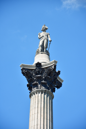 The statue of Admiral Nelson that sits ontop of Nelsons Column in London