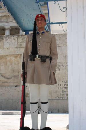 the Evzones or Evzonoi - Greek soldiers