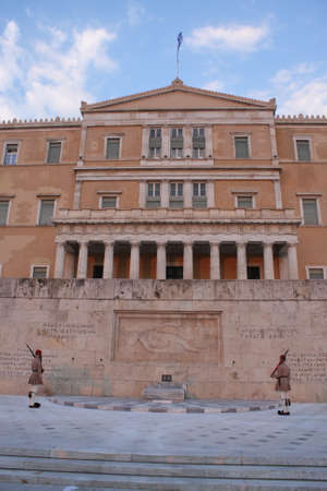 The Hellenic Parliament and The Tomb of the Unknown Soldier.