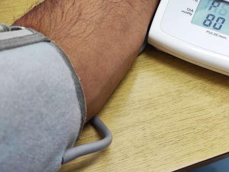 blood pressure taking Stock Photo