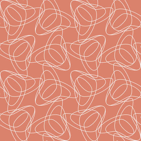 Abstract background with geometric tulips. Seamless regular vector texture. For invitations, greeting cards, stationery, wallpaper and interior textiles. Tessellation. Ilustrace