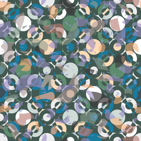 Terrazzo seamless vector pattern. Pieces of geometric and abstract patterns put together. Unique design of overlapping elements. Great for wallpapers, stationary and interiors.