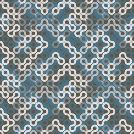 Monochrome Truchet repeat design. Geometric seamless pattern for wallpapers, web page backgrounds, surface textures, fabric, carpet, home décor.