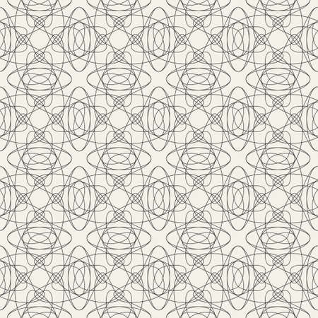 Abstract tessellation pattern with tangled lines. Dark grey structure on light cream background. Minimalist colour combination. Great for fashion, interiors, invitations and wallpapers. Ilustrace
